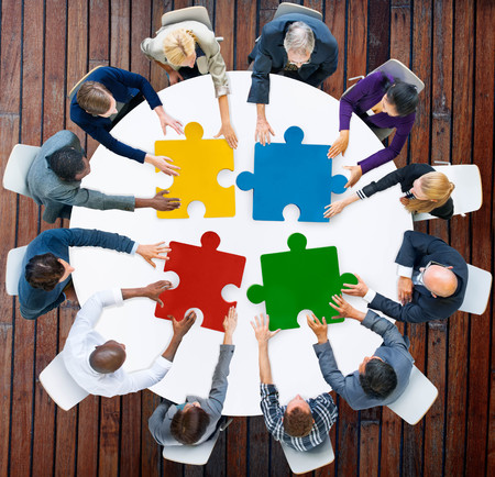 puzzle: Business People Jigsaw Puzzle Collaboration Team Concept