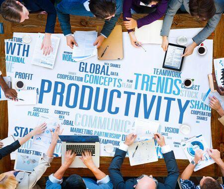 productividad: Productividad Visi�n Crecimiento Eficiencia Idea �xito Solution Concept
