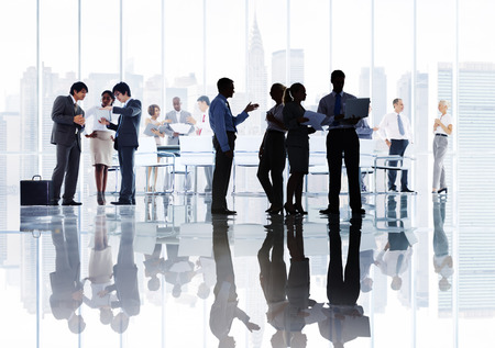reunion de personas: Gente de negocios Corporate Debate Reunión Lluvia Concepto