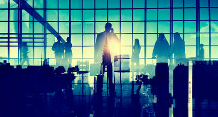 business travel: Business Travel Commuter Corporate Airport Terminal Concept