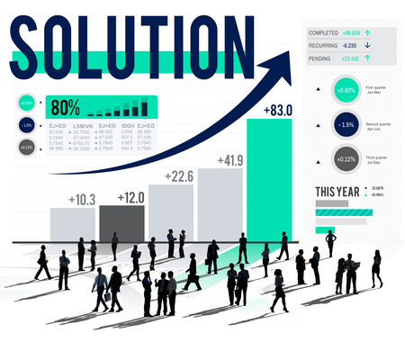 breaking new ground: Solution Progress Strategy Improvement Decision Answer Concept Stock Photo