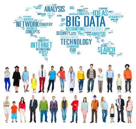 internet network: Big Data Network Technology Internet Online Concept Stock Photo