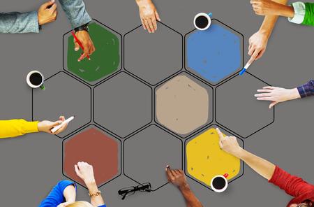 interconnection: Bee Hive Honey Community Teamwork Concept