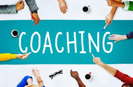 profesionistas: Entrenador Habilidades de Coaching Enseñar Enseñanza Concepto de formación