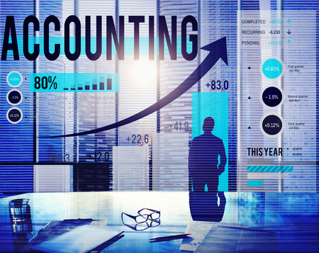 Financial Accounting Boekhouden Budgetbeheer Concept Stockfoto