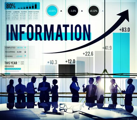 facts: Information Data Research Facts Source Concept Stock Photo