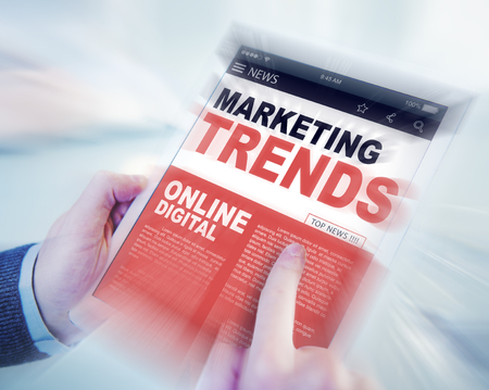 marketing online: Marketing Trends Online Digital Concepts Stock Photo