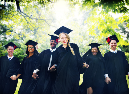 college student: Graduation Student Commencement University Degree Concept