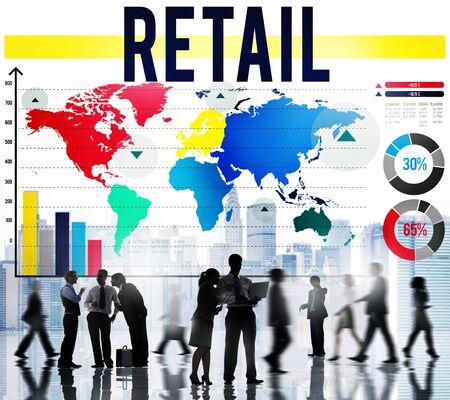 commerce: Retail Commerce Consumer Crowd Data Concept