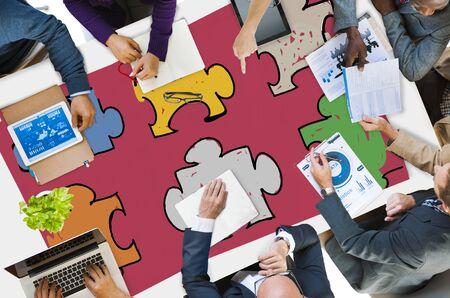 jigsaw puzzle pieces: Jigsaw Puzzle Connection Corporate Team Teamwork Concept
