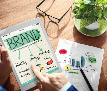 Digital Online Brand Marketing Concept Stock Photo