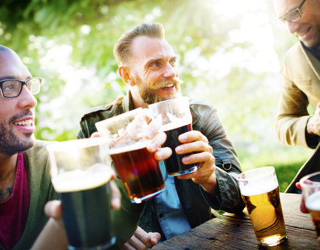 drinking alcohol: Friends Party Outdoors Celebration Happiness Concept