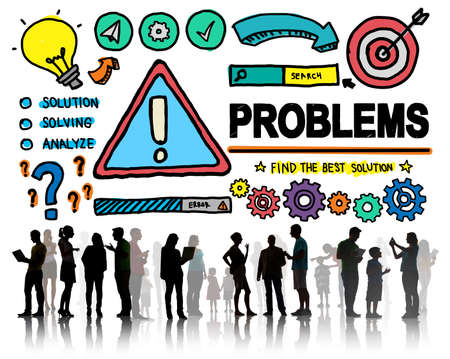 people problems: Problems Trouble Difficulty Failure Challenge Concept