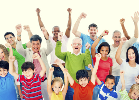 community people: Group of People Community Celebration Happiness Concept Stock Photo