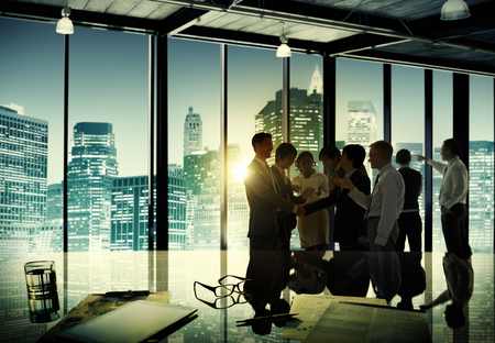 busy city: Business People Corporate Discussion Meeting Team Concept Stock Photo