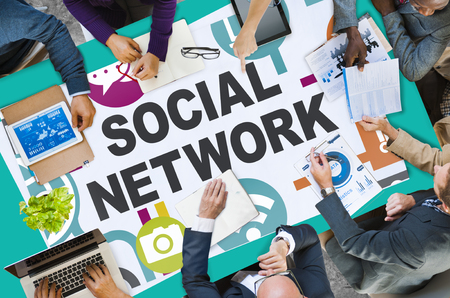 network people: Social Network Internet Online Society Connecting Social Media Concept