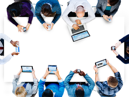 Diversiteit Business Team Planning Board Meeting Strategie Concept