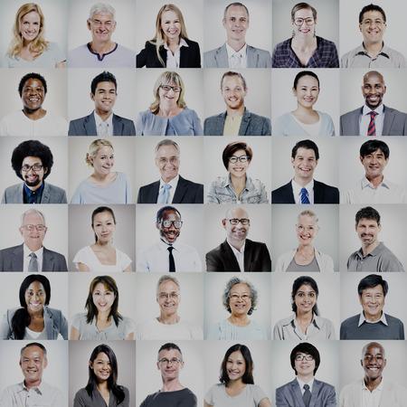 Grupo de diverso de las personas Concepto Multiétnico Foto de archivo - 45621307