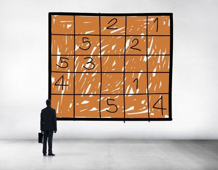 sudoku: Sudoku Puzzle Solving Problem Solution Leisure Concept Stock Photo