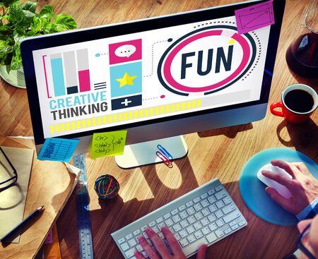 enjoyment: Fun Happiness Enjoyment Recreation Activity Concept