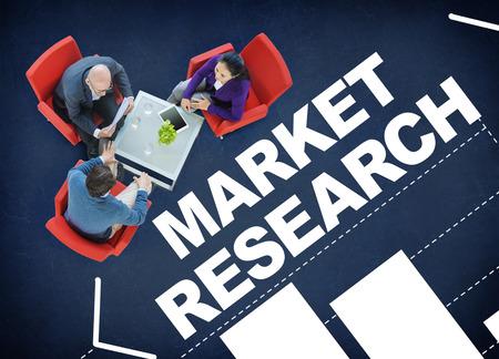 市場調査分析バー グラフ ソリューション戦略コンセプト