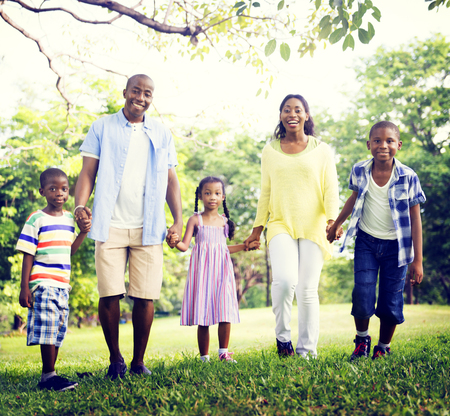 african american ethnicity: African Family Happiness Holiday Vacation Activity Concept