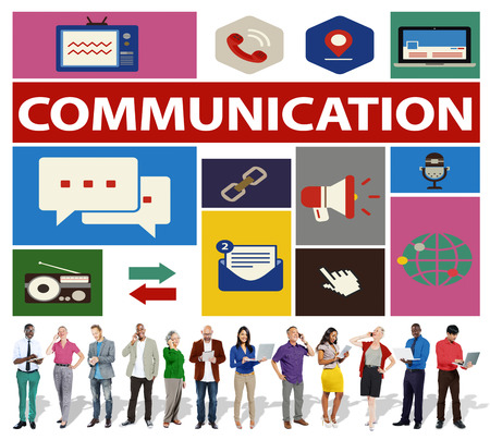 communication: Communication Instant Messaging Chatting Talking Concept