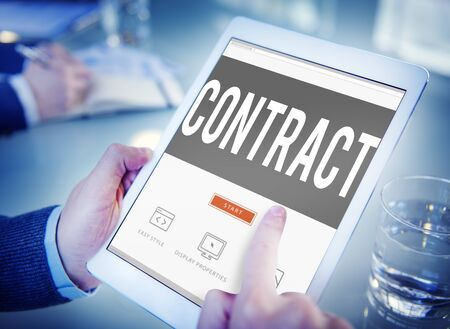 sign contract: Contract Legal Occupation Partnership Deal Concept