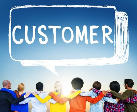 purchaser: Customer Purchaser Satisfaction Consumer Service Concept