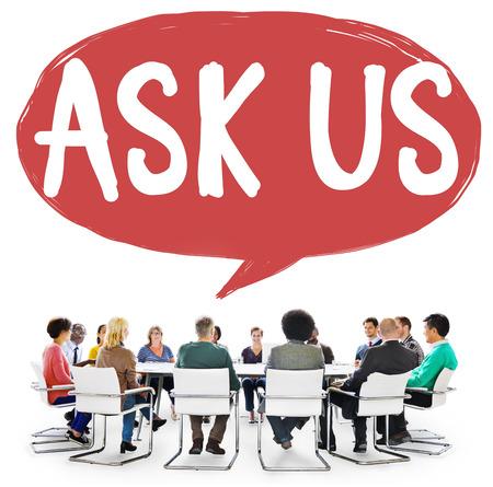 inquiries: Ask Us Inquiries Questions Concerns Contact Concept