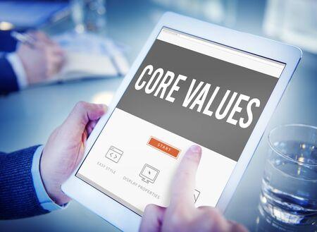 ideology: Core Values Core Focus Goals Ideology Main Purpose Concept Stock Photo