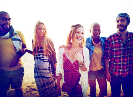 grupo de personas: Amistad Vinculaci�n Relajaci�n Summer Beach Felicidad