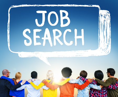 finding employment: Job Search Career Hiring Opportunity Employment Concept