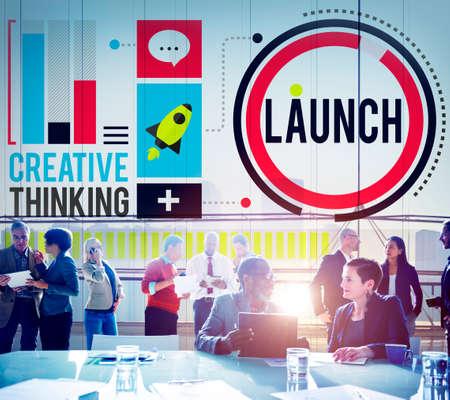 start: Launch New Business Inauguration Begin Start Concept