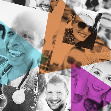 comunidad: Diversidad Amigos Amistad Sonreír Concepto Comunidad