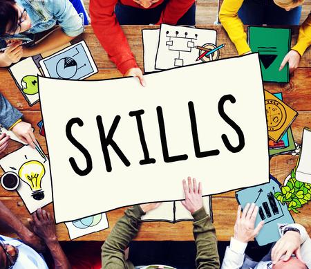 Geschicklichkeit Fähigkeit Qualifikation Leistung Talent Konzept
