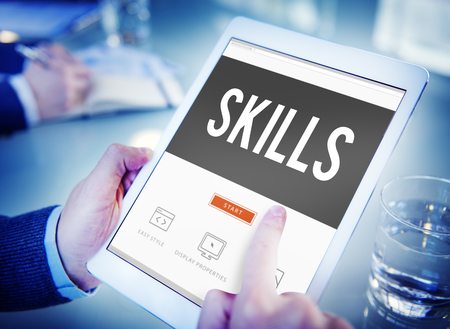 qualification: Skill Ability Qualification Performance Talent Concept Stock Photo