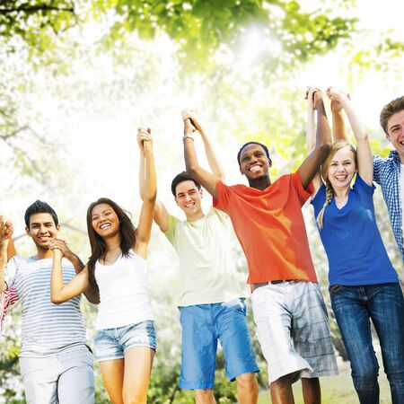 amity: Friends Friendship Happiness Success Amity Concept Stock Photo