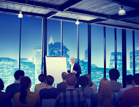 conference speaker: Business People Meeting Conference Speaker Presentation Concept