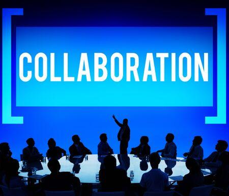 reuniones empresariales: Concepto de Colaboración Organización colaboración Foto de archivo