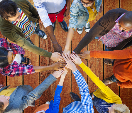 teamwork: Team Corporate Teamwork Collaboration Assistance Concept Stock Photo