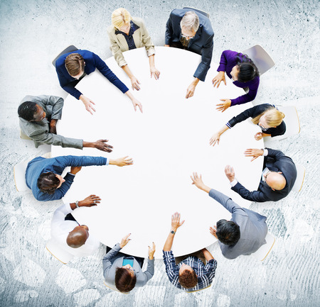 비즈니스 팀 토론 미팅 개념 분석 스톡 콘텐츠