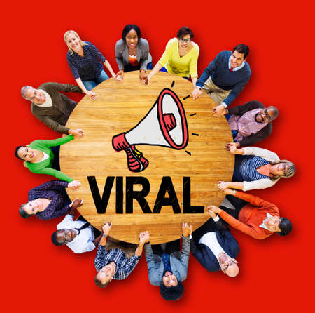 viral marketing: Viral Marketing Spread Review Event Feedback Concept Stock Photo