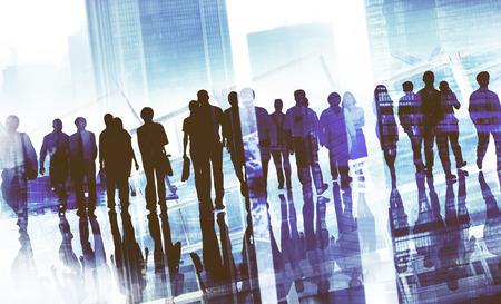 gente trabajando: Gente Grupo asunto que recorren adelante Paisaje urbano Concepto