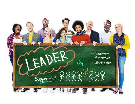 caudillo: Líder de Estrategia Trabajo en equipo Motivación Concepto Soporte
