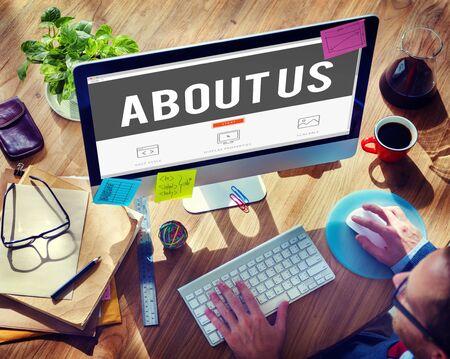about us: About Us Support Question Service Assistance Concept