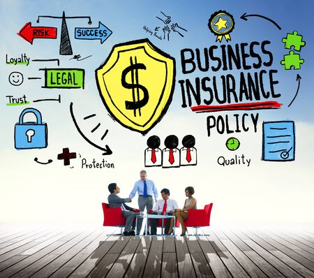 financial agreement: Business Insurance Policy Guard Safety Security Concept