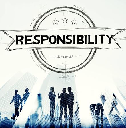 trust: Responsibility Reliability Trust Liability Trustworthy Concept Stock Photo