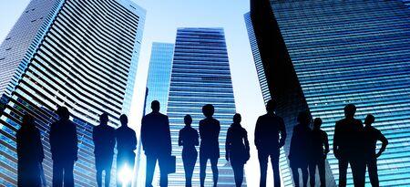 metropolis: Business People Cityscape Building Business Metropolis Concept