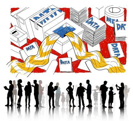 overflow: Data Information Overflow Excess Sketch Concept